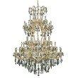 Elegant Lighting Maria Theresa 61 Light Gold Chandelier Golden Teak (Smoky) Royal Cut Crystal (2800G54G-GT/RC)