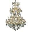 Elegant Lighting Maria Theresa 61 Light Gold Chandelier Golden Teak (Smoky) Royal Cut Crystal (2801G54G-GT/RC)