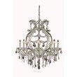 Elegant Lighting Maria Theresa 8 Light Chrome Chandelier Clear Elegant Cut Crystal (2800D28C/EC)