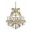 Elegant Lighting Maria Theresa 8 Light Gold Chandelier Clear Swarovski Elements Crystal (2800D28G/SS)