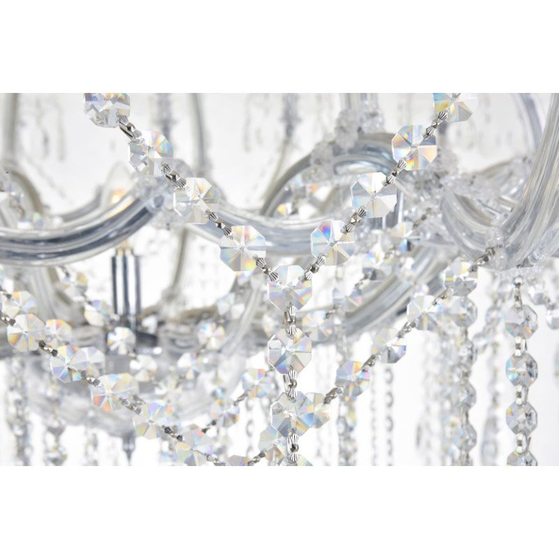 Elegant Lighting Maria Theresa 84 Light Chrome Chandelier Clear Royal Cut Crystal (2800G120C/RC)