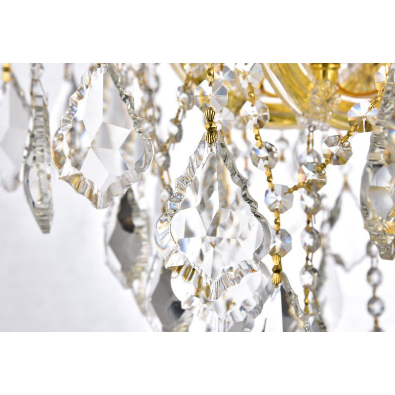 Elegant Lighting Maria Theresa 84 Light Gold Chandelier Clear Spectra Swarovski Crystal (2800G120G/SA)