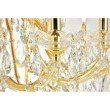 Elegant Lighting Maria Theresa 84 Light Gold Chandelier with clear tear drop crystals Clear Royal Cut Crystal (2803G120G/RC)