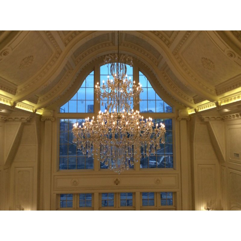 Elegant Lighting Maria Theresa 85 Light Chrome Chandelier Clear Elegant Cut Crystal (2800G96C/EC)