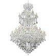 Elegant Lighting Maria Theresa 85 Light Chrome Chandelier Clear Spectra Swarovski Crystal (2800G96C/SA)