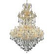 Elegant Lighting Maria Theresa 85 Light Gold Chandelier Clear Royal Cut Crystal (2800G96G/RC)