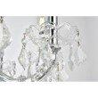 Elegant Lighting Maria Theresa 9 Light Chrome Chandelier Clear Swarovski Elements Crystal (2800D26C/SS)