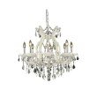 Elegant Lighting Maria Theresa 9 Light white Chandelier Clear Swarovski Elements Crystal (2800D26WH/SS)