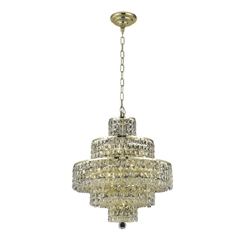 Elegant Lighting Maxime 13 Light Gold Chandelier Clear Swarovski Elements Crystal (2039D20G/SS)