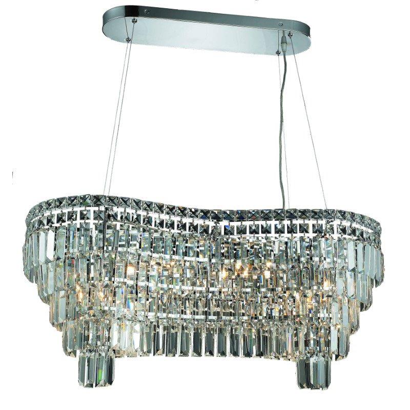 Elegant Lighting Maxime 14 Light Chrome Chandelier Clear Royal Cut Crystal (2019D32C/RC)
