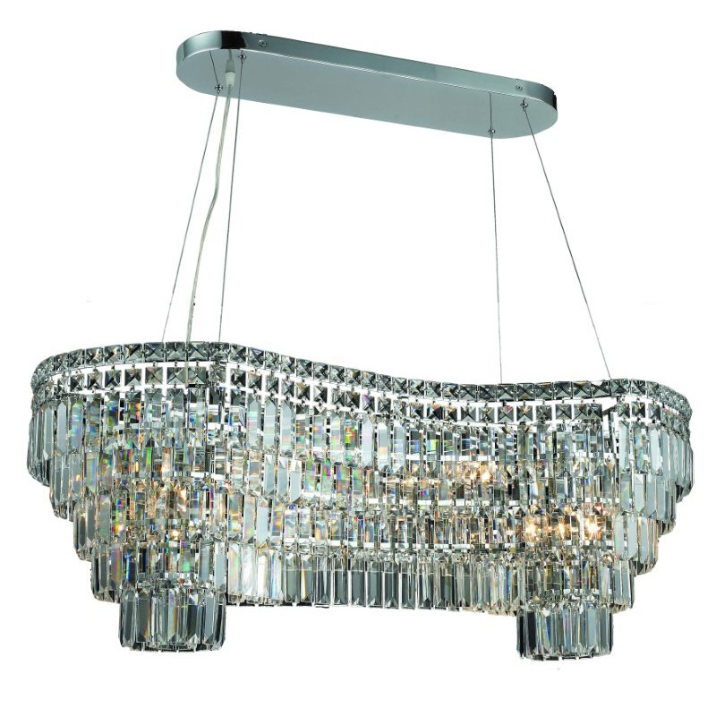 Elegant Lighting Maxime 14 Light Chrome Chandelier Clear Royal Cut Crystal (2019D40C/RC)