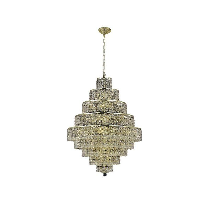 Elegant Lighting Maxime 20 Light Gold Chandelier Clear Royal Cut Crystal (2039D30G/RC)