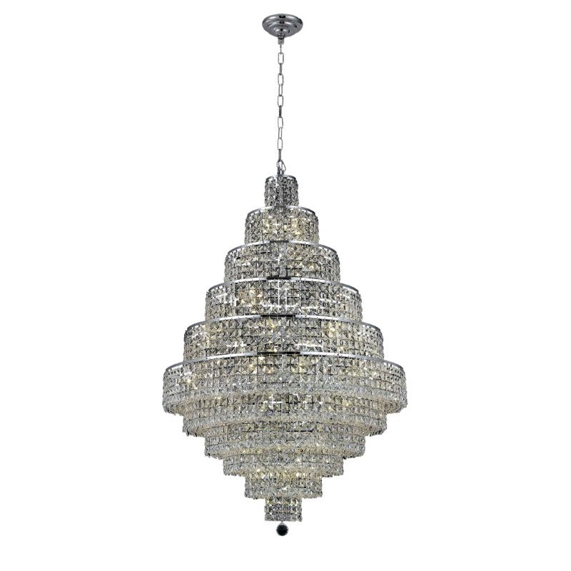 Elegant Lighting Maxime 30 Light Chrome Chandelier Clear Royal Cut Crystal (2039D32C/RC)
