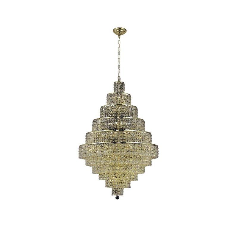 Elegant Lighting Maxime 30 Light Gold Chandelier Clear Elegant Cut Crystal (2039D32G/EC)