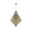 Elegant Lighting Maxime 30 Light Gold Chandelier Clear Swarovski Elements Crystal (2039D32G/SS)
