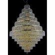 Elegant Lighting Maxime 38 Light Gold Chandelier Clear Swarovski Elements Crystal (2039G42G/SS)