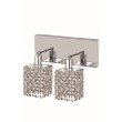 Elegant Lighting Mini 2 Light Chrome Wall Sconce Clear Royal Cut Crystal (1282W-O-S-CL03/RC)