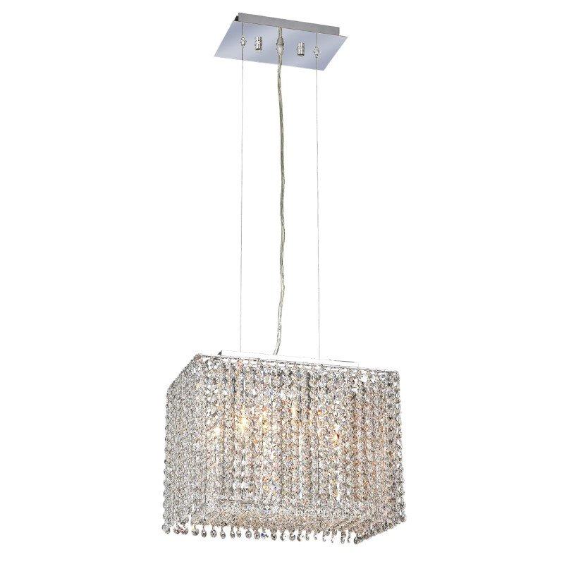 Elegant Lighting Moda 2 Light Chrome Chandelier Clear Elegant Cut Crystal (1291D14C-CL03/EC)