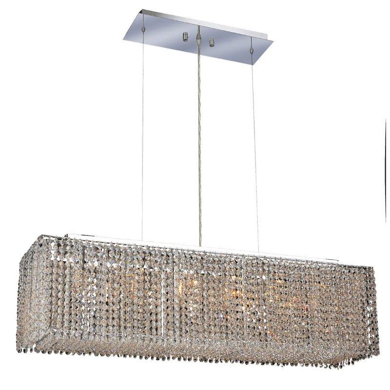 Elegant Lighting Moda 6 Light Chrome Chandelier Clear Royal Cut Crystal (1291D38C-CL03/RC)