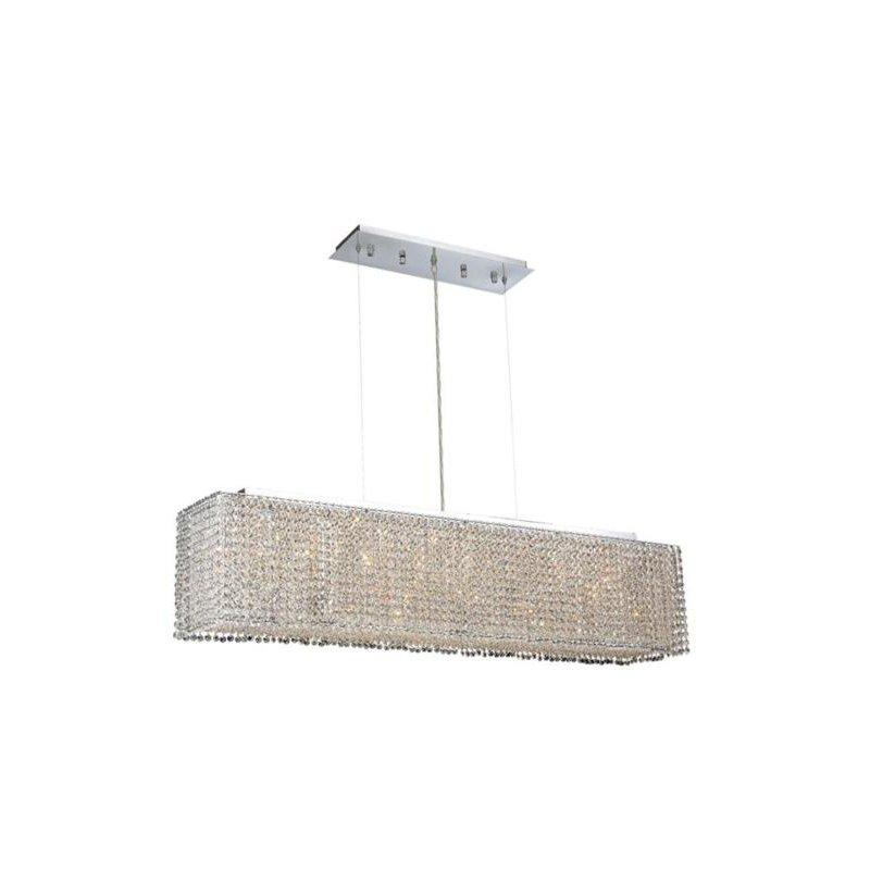 Elegant Lighting Moda 6 Light Chrome Chandelier Clear Swarovski Elements Crystal (1291D46C-CL03/SS)