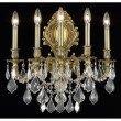 Elegant Lighting Monarch 5 Light French Gold Wall Sconce Clear Spectra Swarovski Crystal (9605W21FG/SA)