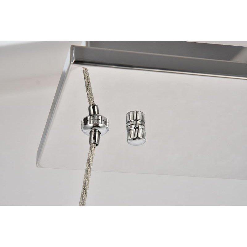 Elegant Lighting Monroe Integrated LED chip Light Chrome Chandelier Clear Royal Cut Crystal (3502D31C)