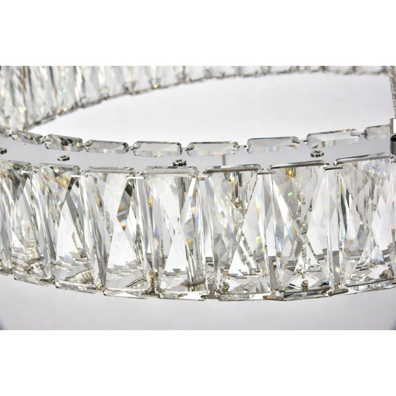 Elegant Lighting Monroe Integrated LED chip Light Chrome Chandelier Clear Royal Cut Crystal (3503D23C)