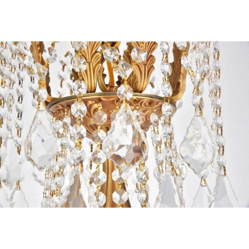 Elegant Lighting Rosalia 10 Light French Gold Chandelier Clear Spectra Swarovski Crystal (9210D28FG/SA)