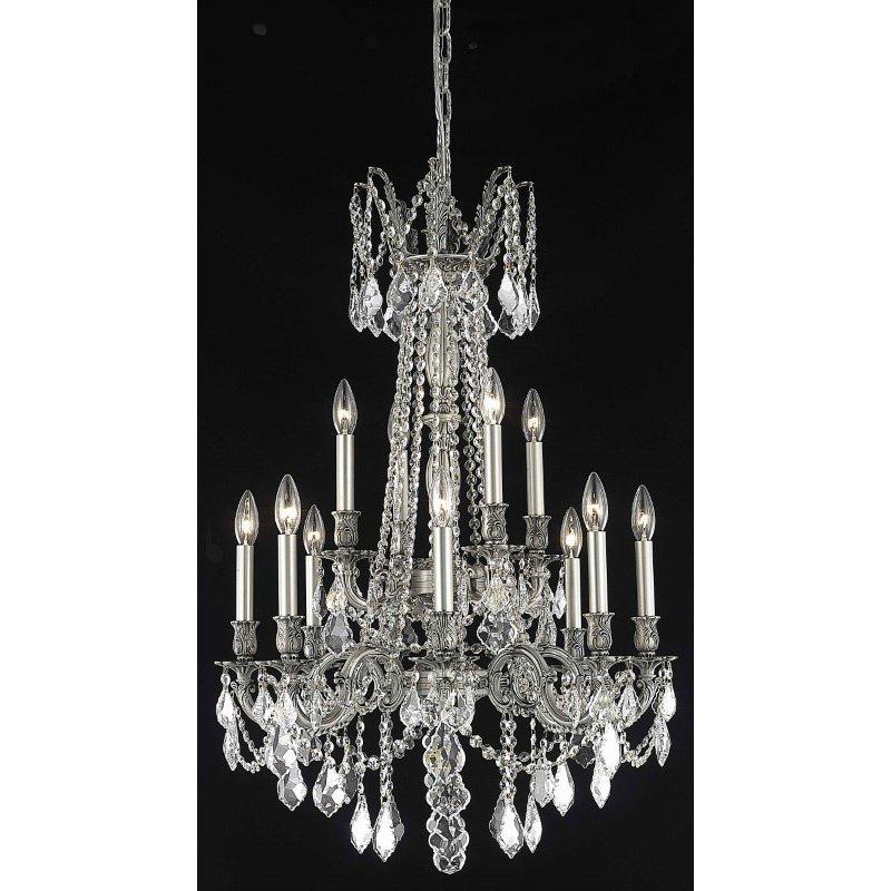 Elegant Lighting Rosalia 12 Light Pewter Chandelier Clear Spectra Swarovski Crystal (9212D24Pw/SA)