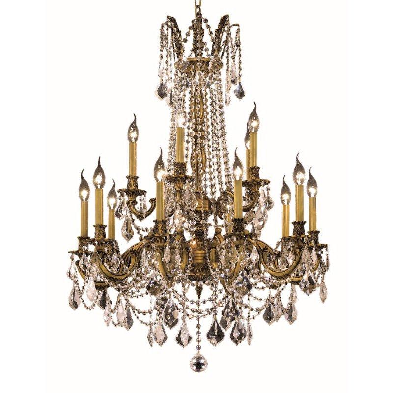 Elegant Lighting Rosalia 15 Light French Gold Chandelier Clear Elegant Cut Crystal (9215D28FG/EC)