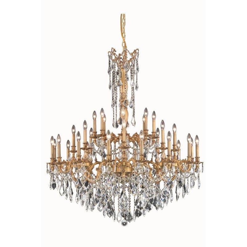 Elegant Lighting Rosalia 32 Light French Gold Chandelier Clear Swarovski Elements Crystal (9232G48FG/SS)