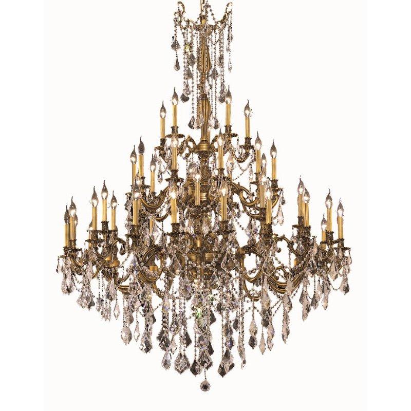 Elegant Lighting Rosalia 45 Light French Gold Chandelier Clear Elegant Cut Crystal (9245G54FG/EC)