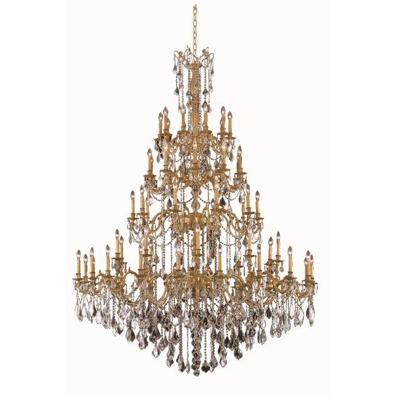Elegant Lighting Rosalia 60 Light French Gold Chandelier Clear Elegant Cut Crystal (9260G72FG/EC)