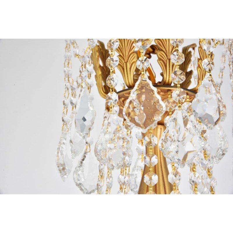 Elegant Lighting Rosalia 8 Light French Gold Chandelier Clear Royal Cut Crystal (9208D24FG/RC)