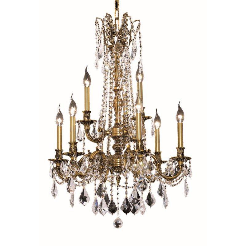 Elegant Lighting Rosalia 9 Light French Gold Chandelier Clear Swarovski Elements Crystal (9209D23FG/SS)