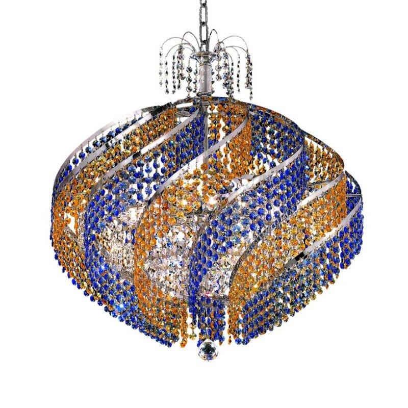Elegant Lighting Spiral 15 Light Chrome Chandelier clear Swarovski Elements Crystal (8053D26C/SS)