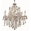 Elegant Lighting St. Francis 12 Light Chrome Chandelier Clear Royal Cut Crystal (2016D28C/RC)