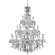 Elegant Lighting St. Francis 24 Light Chrome Chandelier Clear Royal Cut Crystal (2016G36C/RC)