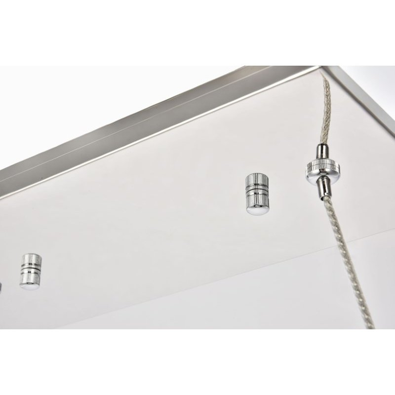 Elegant Lighting Valetta Integrated LED chip Light Chrome Chandelier Clear Royal Cut Crystal (3501D36C)