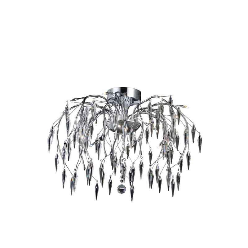 Elegant Lighting Value 2 Amour 16 Light Chrome Flush Mount Clear Swarovski Elements Crystal (V5008F28C/SS)