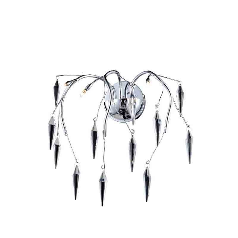 Elegant Lighting Value 2 Amour 3 Light Chrome Wall Sconce Clear Swarovski Elements Crystal (V5008W16C/SS)
