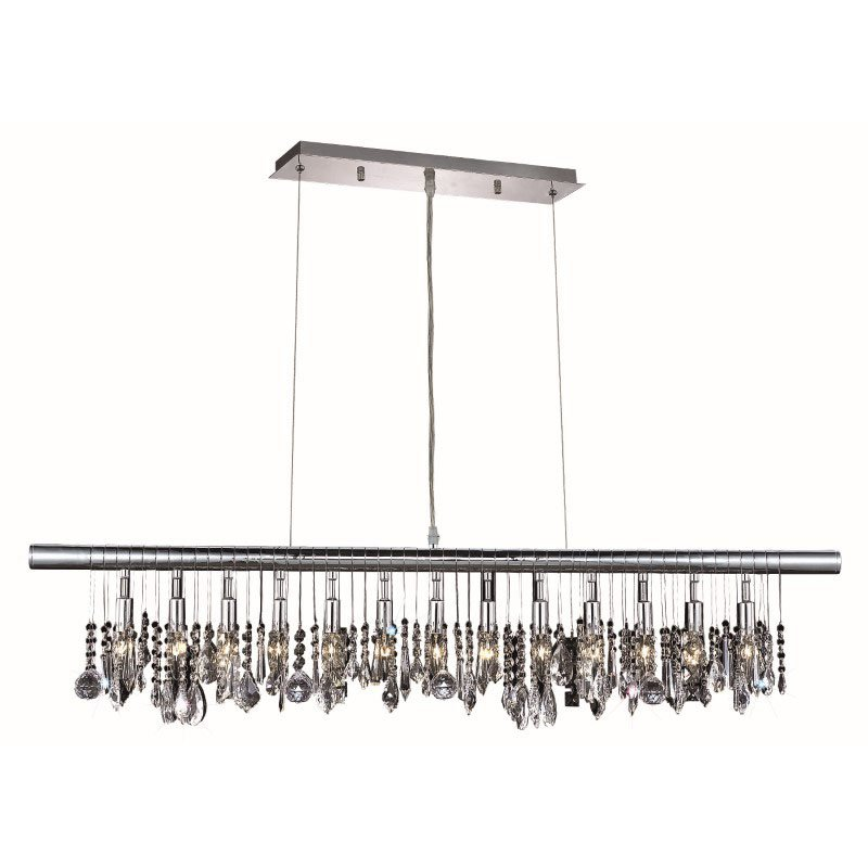 Elegant Lighting Value 2 Chorus Line 13 Light Chrome Chandelier Clear Royal Cut Crystal (V3100D48C/RC)