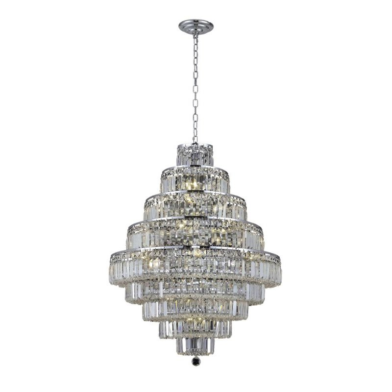 Elegant Lighting Value 2 Maxime 20 Light Chrome Chandelier Clear Royal Cut Crystal (V2038D30C/RC)
