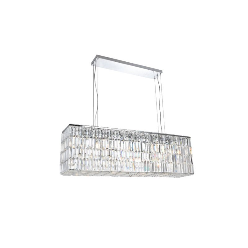 Elegant Lighting Value 2 Maxime 8 Light Chrome Chandelier Clear Swarovski Elements Crystal (V2018D44C/SS)