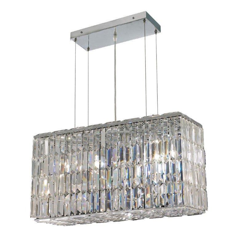 Elegant Lighting Value 2 Maxime 8 Light Chrome Chandelier Golden Teak (Smoky) Royal Cut Crystal (V2018D26C-GT/RC)