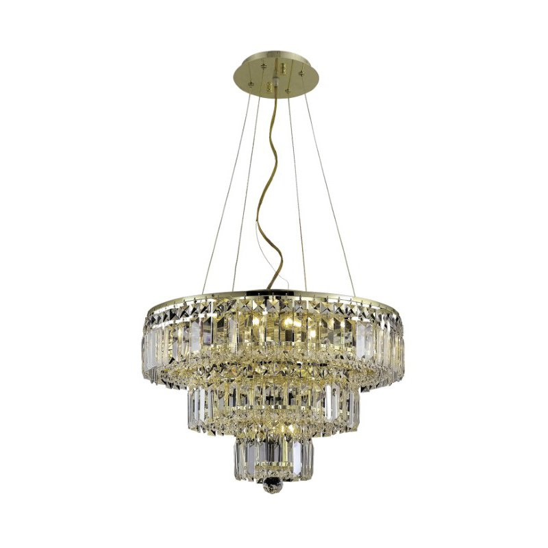 Elegant Lighting Value 2 Maxime 9 Light Gold Chandelier Clear Swarovski Elements Crystal (V2036D20G/SS)