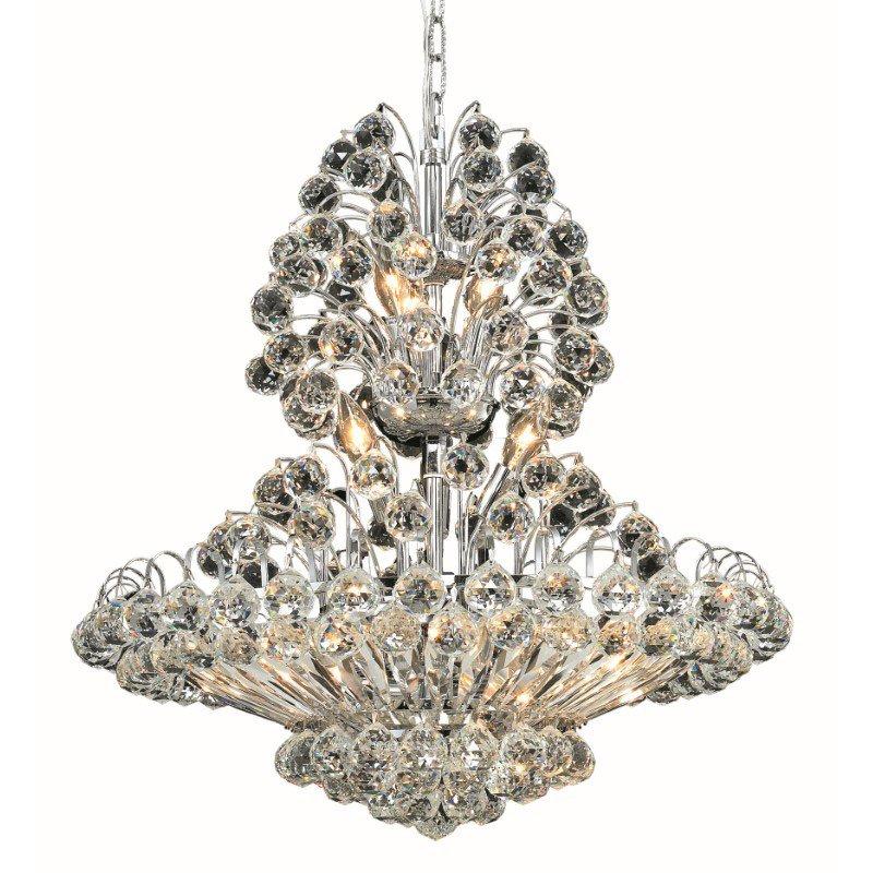 Elegant Lighting Value 2 Sirius 14 Light Chrome Chandelier Clear Spectra Swarovski Crystal (V2908D24C/SA)