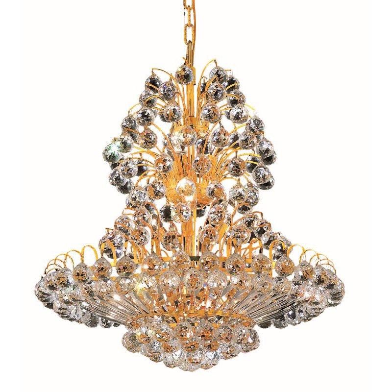 Elegant Lighting Value 2 Sirius 14 Light Gold Chandelier Clear Royal Cut Crystal (V2908D24G/RC)