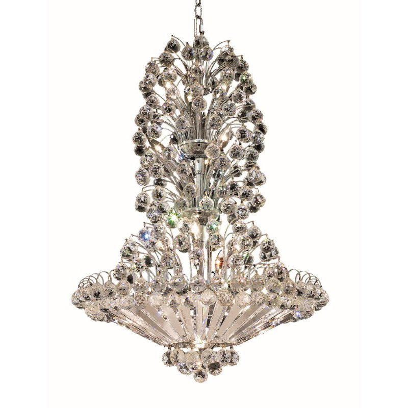 Elegant Lighting Value 2 Sirius 22 Light Chrome Chandelier Clear Royal Cut Crystal (V2908D28C/RC)