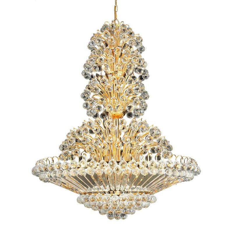 Elegant Lighting Value 2 Sirius 33 Light Gold Chandelier Clear Royal Cut Crystal (V2908G36G/RC)
